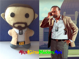 GTA V Plushes: Dave Norton by AkaKiiroMidoriAoi