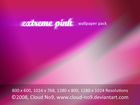 Extreme Pink Wallpaper Pack by cloud-no9