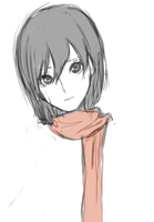Mikasa doodle by IsariAsir