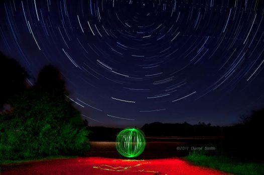 Light painting and Star trails by DARRYL-SMITH