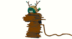 Huntress Wizard Tied Up by EarWaxKid