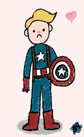 Sad Steve and His Derpy Shield by B4ItWasMainstream