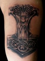 Thors Hammer3 by phoenixtattoos