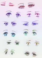 Anime Eyes Study by Tajii-chan
