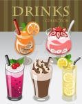 Vector Illustration Drink Collection Set by phyllis-L