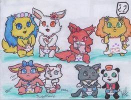 Diapered Jewelpets by davidcool1989