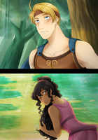 .:APHxDisney:. Wonderboy and Damsel by kamillyanna