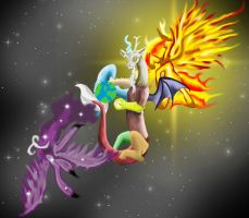 Discord Space Battle by SuperRobotRainbowPig