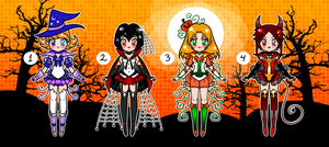 Halloween Sailor Senshi Adoptables CLOSE by YukiMiyasawa
