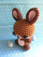 Peanut Butter Chocolate Rabbit Amigurumi by cuteamigurumi