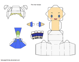 Papercraft Finn Adv. Time by lettucegirlchristy