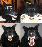 Werewolf mask WIP part 9 (finished) by Farumir