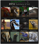 Summary of art 2016 by HunterStrait