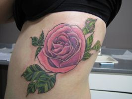 Rose on Ribs by Shipht