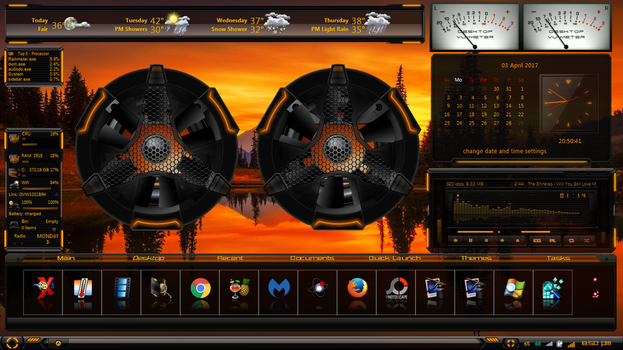 Hud Launch With Rainmeter and winstep by XxAries1970xX