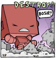 ANGRY LITTLE ROBOT - destroy by icanseeyourmonkey