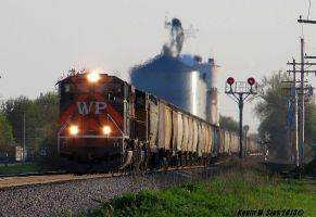 Western Pacific Heritage # 1983 leads NS 55T Grain by EternalFlame1891