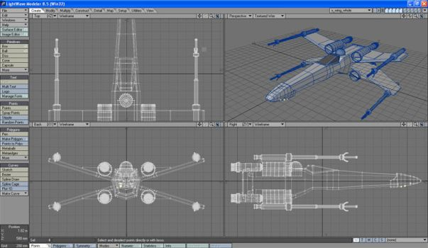 X-Wing Wireframe by bink5501