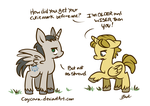 My Little Avengers - Foal Loki and Thor by caycowa