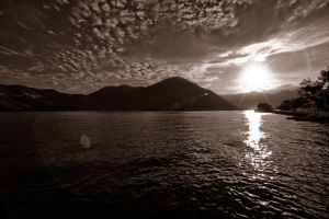 Sunrise over Kotor bay by Yupa