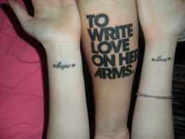 To write love on her arms tats by telegraphedkiss
