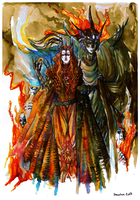 Silmarillion_Melkor and Annatar by Daswhox