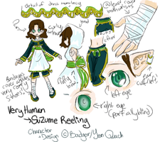 Suzume's Reference Sheet by CrackNinja