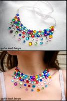 Small Colorful Gem Necklace by Natalie526