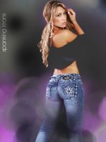 Blue Jeans and Purples 2 by SpankingJeans