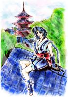Misao and her home at kyoto (UPDATED) by Penzoom