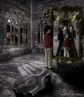 Harry and the Mirror of Erised by HogwartsArt