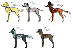 MOAR Canine Point Adoptables 3 LEFT by LttleGhost