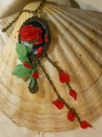 When the last petal falls...- Necklace by Ganjamira