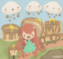 Maple Rain on Pancake Paradise by vividbit