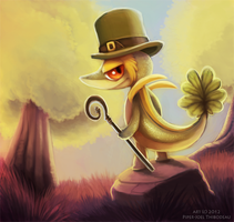 Daily 7 - Shamrock the Snivy by Cryptid-Creations