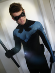 Nightwing is Serious cosplay (Custom) by CpCody