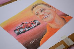 Drawing Michael Schumacher by keillly