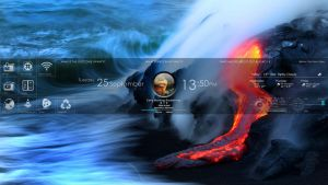 Rainmeter Desktop by free-ridernz