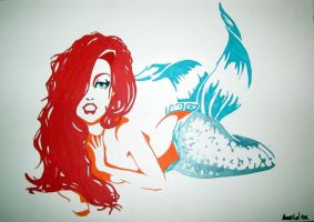 Risque Mermaid by HannahMarie182