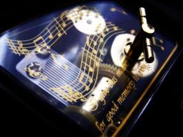 Music box - black-n-gold by AnnFrost-stock