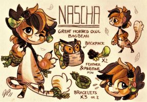 Nascha Ref. Sheet [Commission] by Baraayas