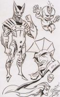 Savage Dragon doodles by dfridolfs