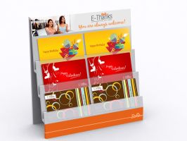 EThanks GIft Card Stand by 11thagency