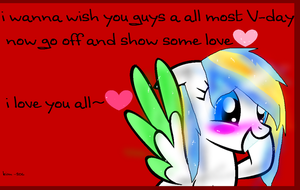 happy all most V-day. by kim-306