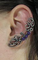 Purple Mountain Jade Ear Cuff by sylva