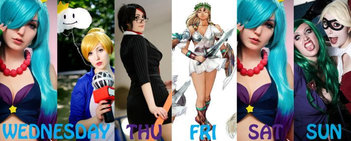 COSPLAY SCHEDULE FOR GAMESCOM2014 by ibukii