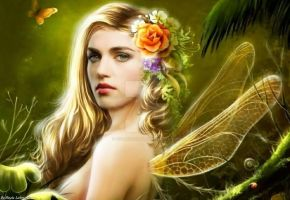 Katie as a forest fairy by Nicole21Lohmar