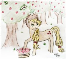 Applejack in the Orchard by LiveInAMoment