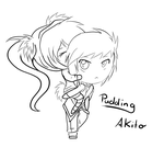 Akito and Pudding by SugarYuyu