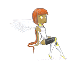 Angel of Artblock by The-Concept-Artist